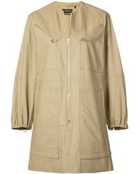 Robe chemise marron clair Isabel Marant