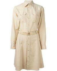 Robe chemise marron clair Ralph Lauren