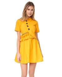 Robe chemise moutarde