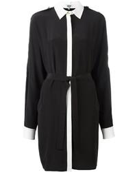 Robe chemise noire et blanche Kenzo