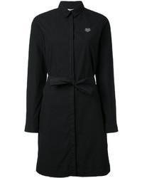 Robe chemise noire Kenzo
