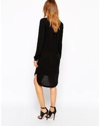 47e112f3457 ... Robe chemise noire Vero Moda