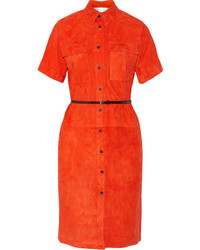 Robe chemise orange Victoria Beckham