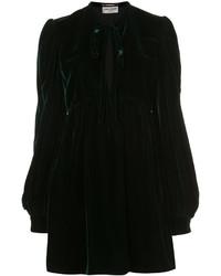 Robe chemise vert foncé Saint Laurent