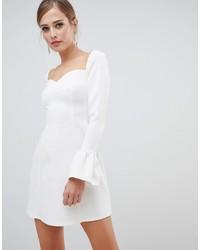 Robe de cocktail blanche ASOS DESIGN