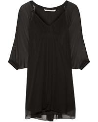 Robe de cocktail en chiffon noire Diane von Furstenberg