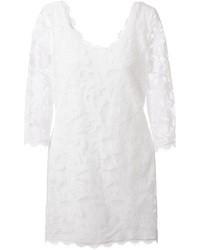 Robe de cocktail en dentelle blanche Diane von Furstenberg