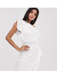 Robe de cocktail ornée blanche TFNC Tall