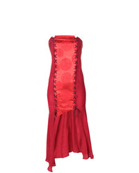 Robe de cocktail rouge Romeo Gigli Vintage