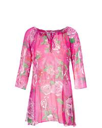 Robe de plage à fleurs rose Amir Slama