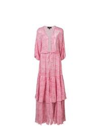 Robe de plage à fleurs rose Saloni