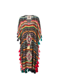 Robe de plage à rayures horizontales multicolore Figue