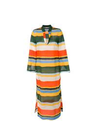 Robe de plage à rayures horizontales multicolore Tory Burch