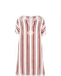 Robe de plage blanche et rouge Tory Burch