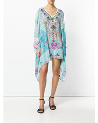Robe de plage imprimée bleu clair Camilla