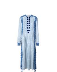 Robe de plage imprimée bleu clair Figue