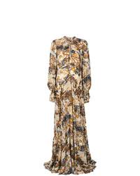 Robe de soirée à fleurs multicolore Chloé
