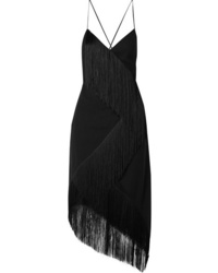 Robe de soirée à franges noire Givenchy