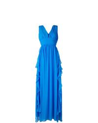 Robe de soirée bleue MSGM