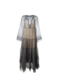 Robe de soirée de tulle brodée noire Stella McCartney