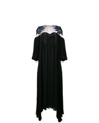 Robe de soirée découpée noire Fendi