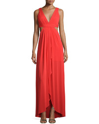 Robe de soirée découpée rouge
