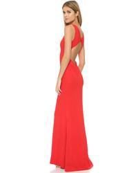 Robe de soirée découpée rouge Rachel Zoe