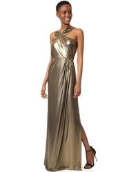 Robe de soirée dorée Parker