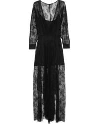Robe de soirée en dentelle noire