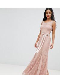 Robe de soirée en dentelle rose City Goddess Petite