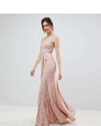 Robe de soirée en dentelle rose City Goddess Tall