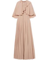 Robe de soirée en satin à volants rose Valentino