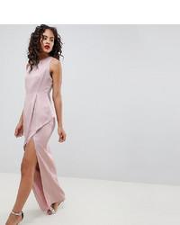 Robe de soirée en satin rose Asos Tall