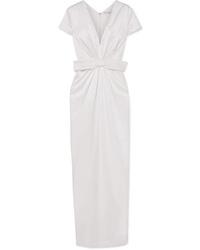 Robe de soirée en soie blanche Emilia Wickstead