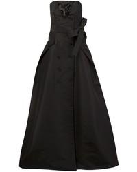Robe de soirée en soie noire Carolina Herrera