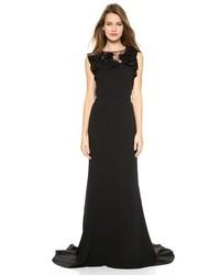 Robe de soirée en soie noire Nina Ricci