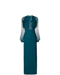 Robe de soirée en tulle bleu canard Dsquared2