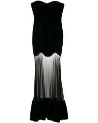 Robe de soirée en tulle noire Alexander McQueen