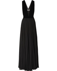 Robe de soirée en velours plissée noire Givenchy