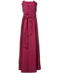 Robe de soirée en velours rouge