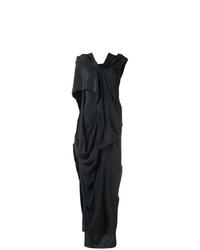 Robe de soirée fendue noire Rick Owens