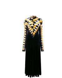 Robe de soirée imprimée tie-dye noire