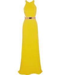 Robe de soirée jaune