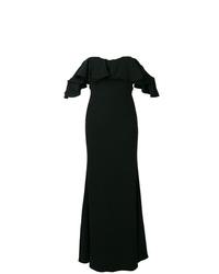 Robe de soirée noire Alexander McQueen