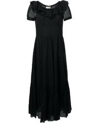Robe de soirée noire Saint Laurent