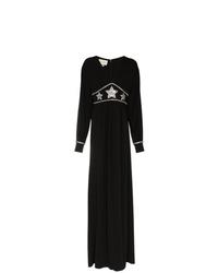 Robe de soirée ornée noire Gucci