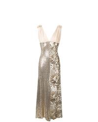 Robe de soirée pailletée dorée P.A.R.O.S.H.