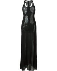 Robe de soirée pailletée noire Michael Kors