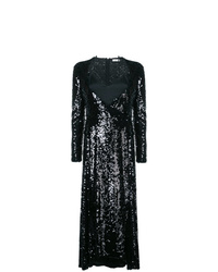 Robe de soirée pailletée noire Nina Ricci