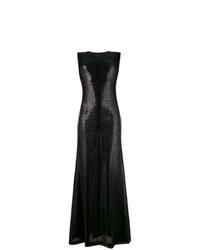 Robe de soirée pailletée noire P.A.R.O.S.H.